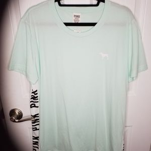 NWT VS Pink Logo Short Sleeve Tunic Tee L